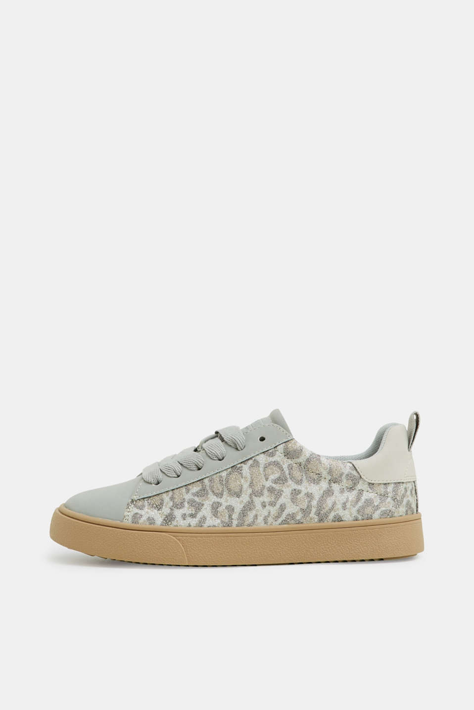 Esprit - Glittering trainers with a leopard skin print