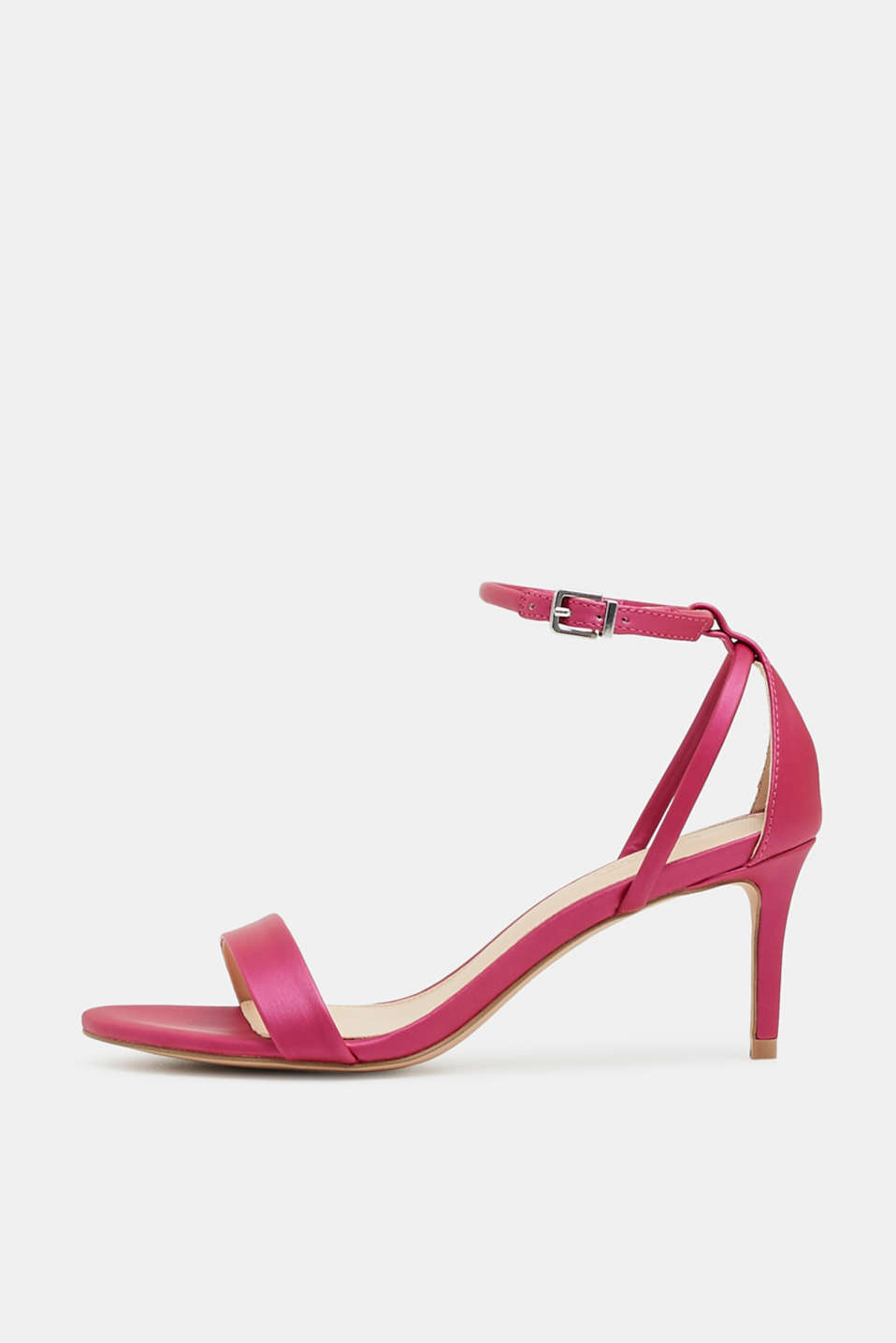 Esprit - Strappy sandals with a matt, metallic finish