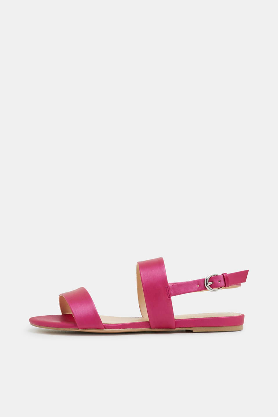 Esprit - Flat sandal in a matte metallic look