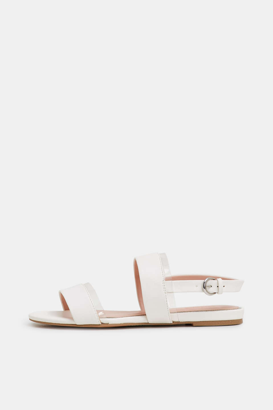 Esprit - Sandals with transparent details, in faux leather