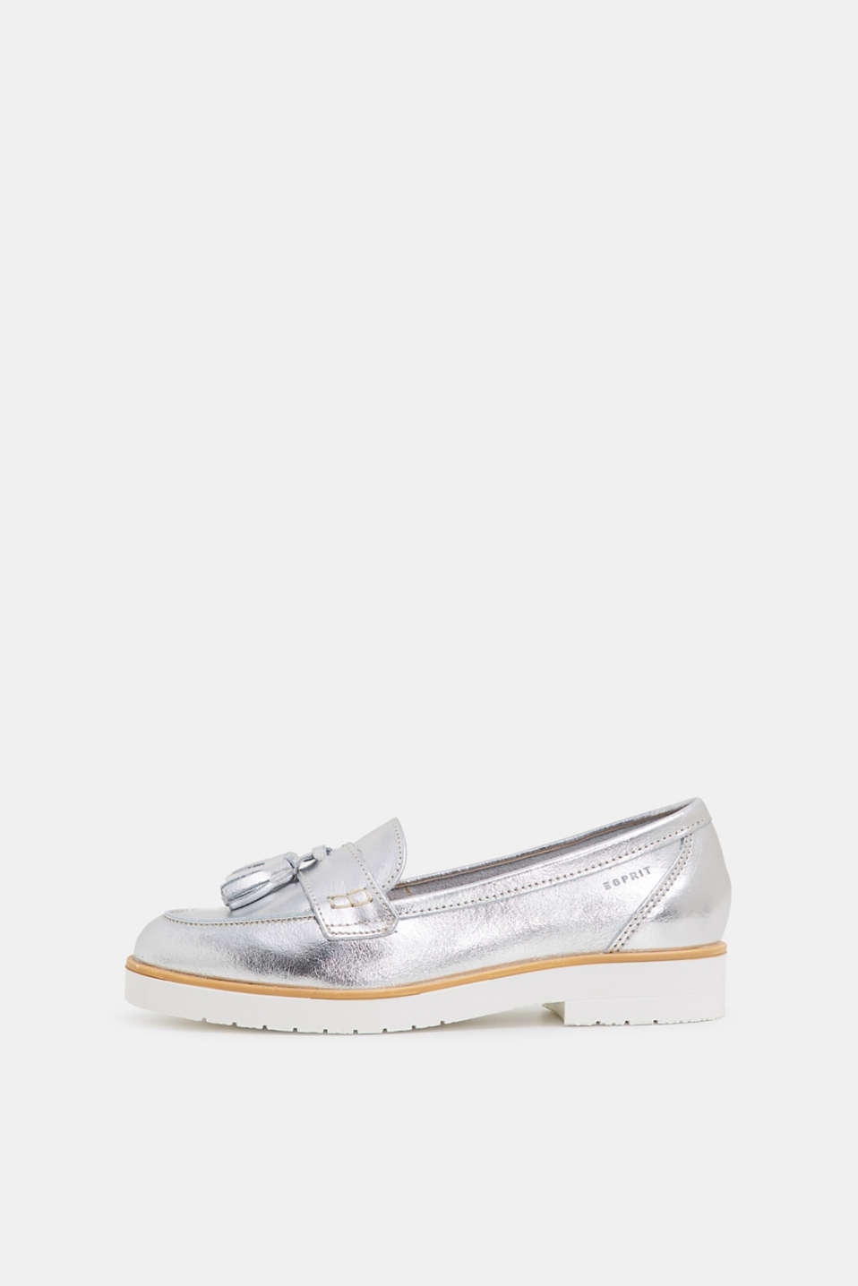 Esprit - Metallic loafers van leer
