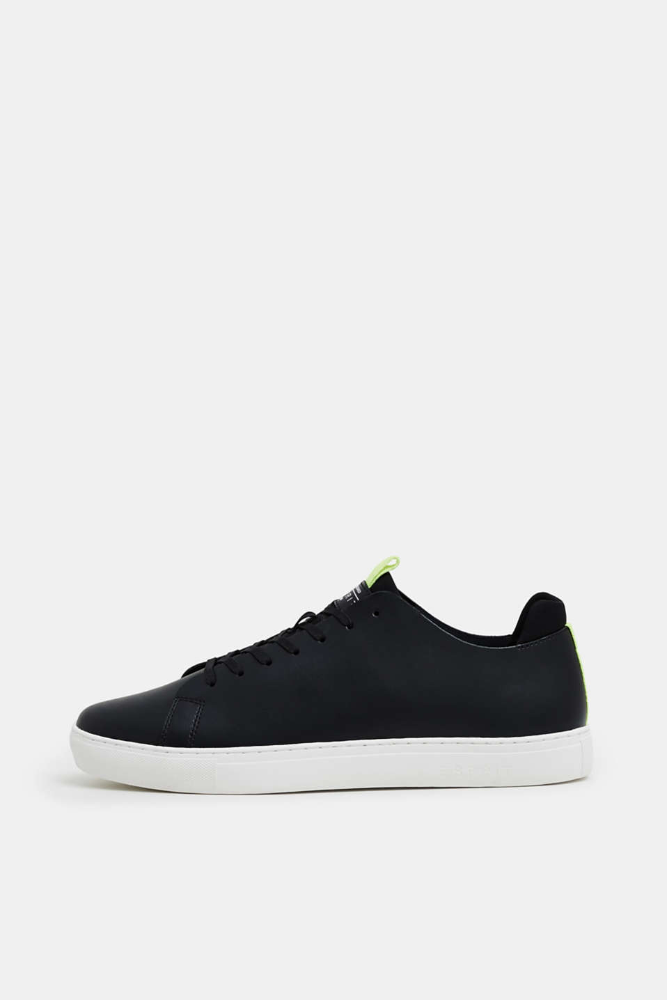 Esprit - Leather trainers with colourful piping