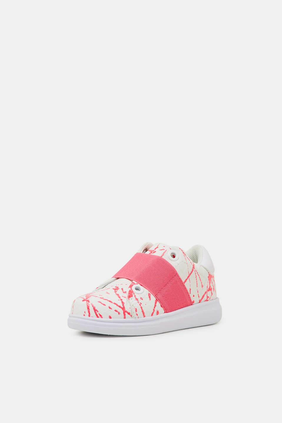 Slip-on trainers in faux leather, PINK FUCHSIA, detail image number 2