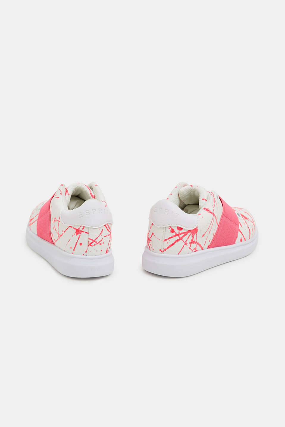 Slip-on trainers in faux leather, PINK FUCHSIA, detail image number 4