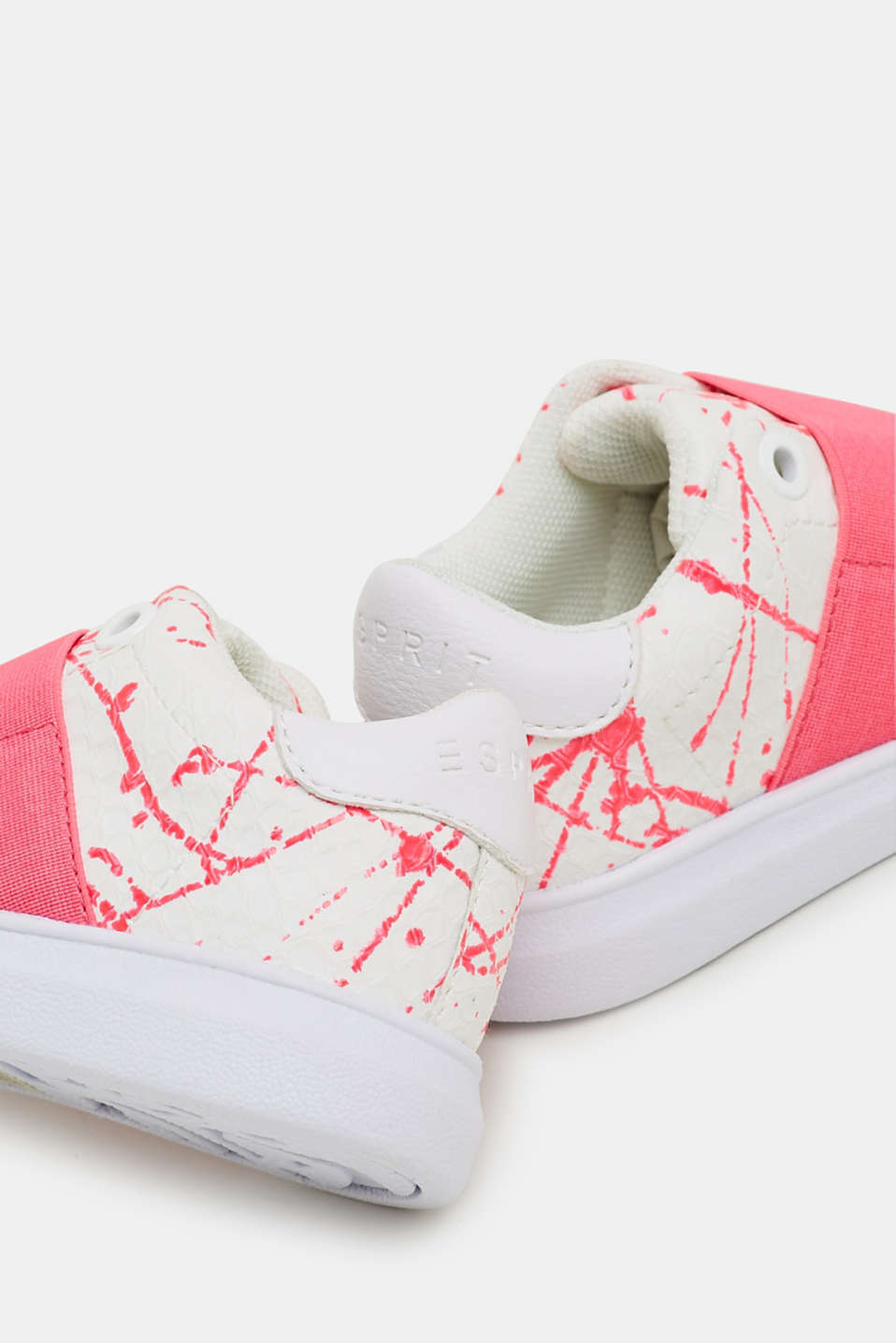 Slip-on trainers in faux leather, PINK FUCHSIA, detail image number 3