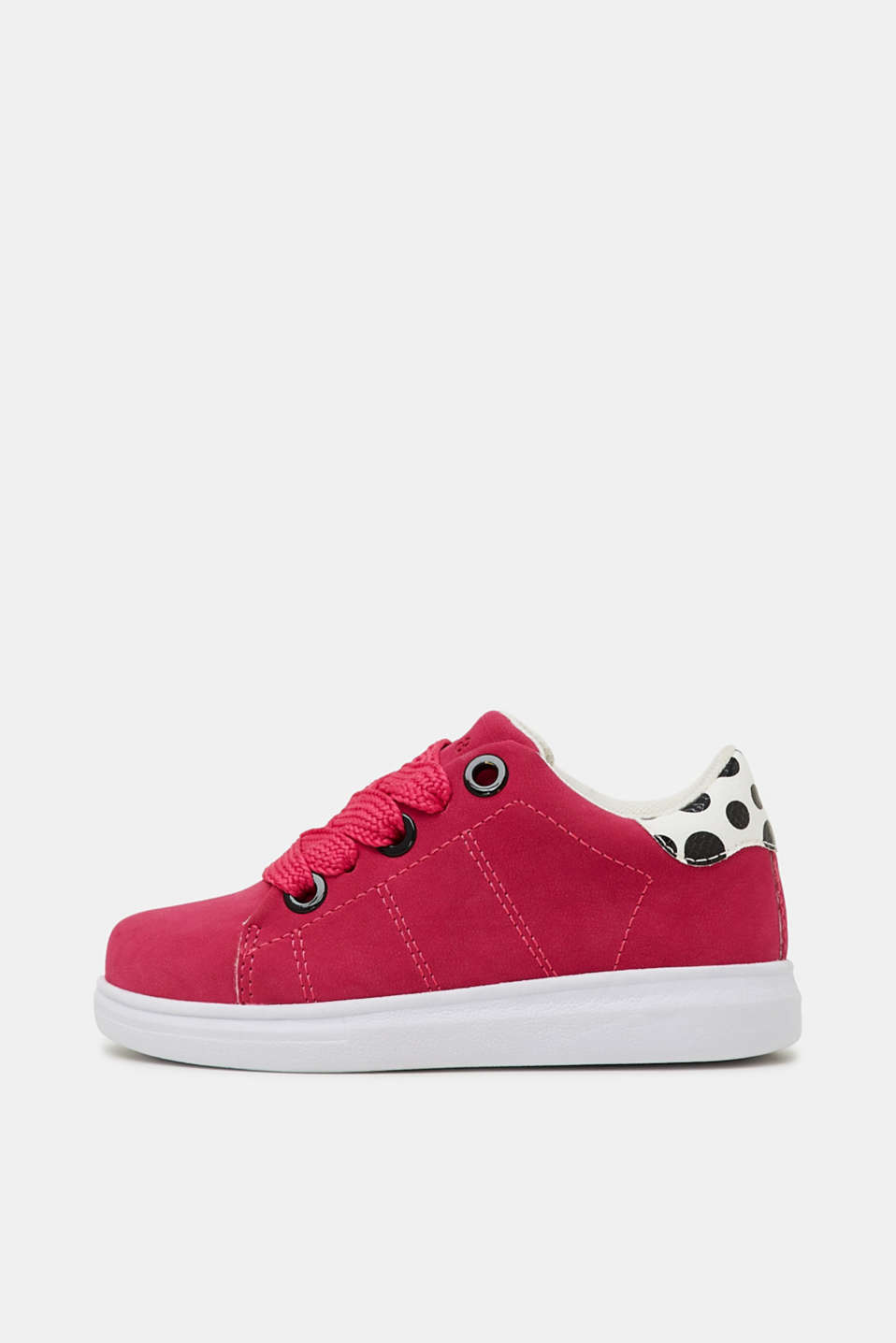 Trendy, faux suede trainers, PINK FUCHSIA, detail image number 0
