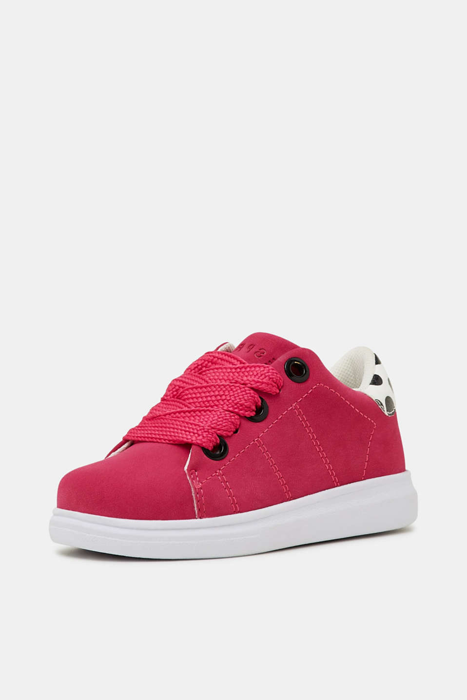 Trendy, faux suede trainers, PINK FUCHSIA, detail image number 1