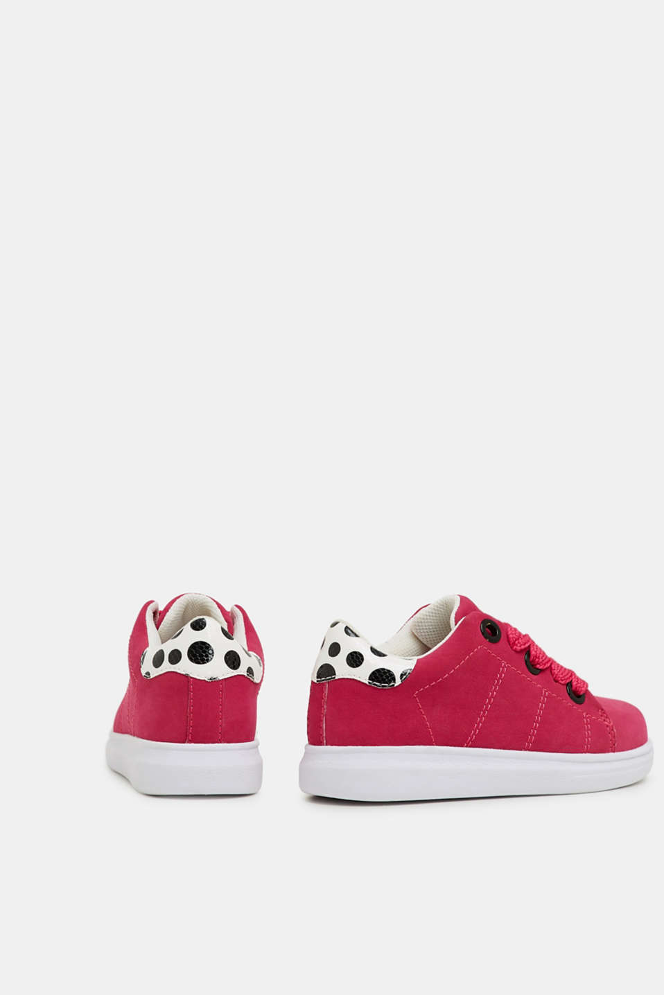 Trendy, faux suede trainers, PINK FUCHSIA, detail image number 3