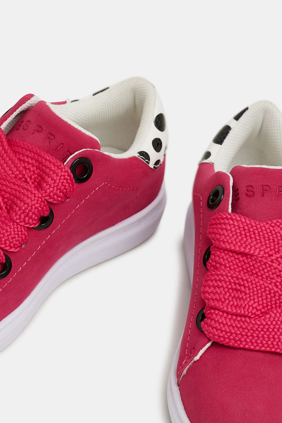 Trendy, faux suede trainers, PINK FUCHSIA, detail image number 2