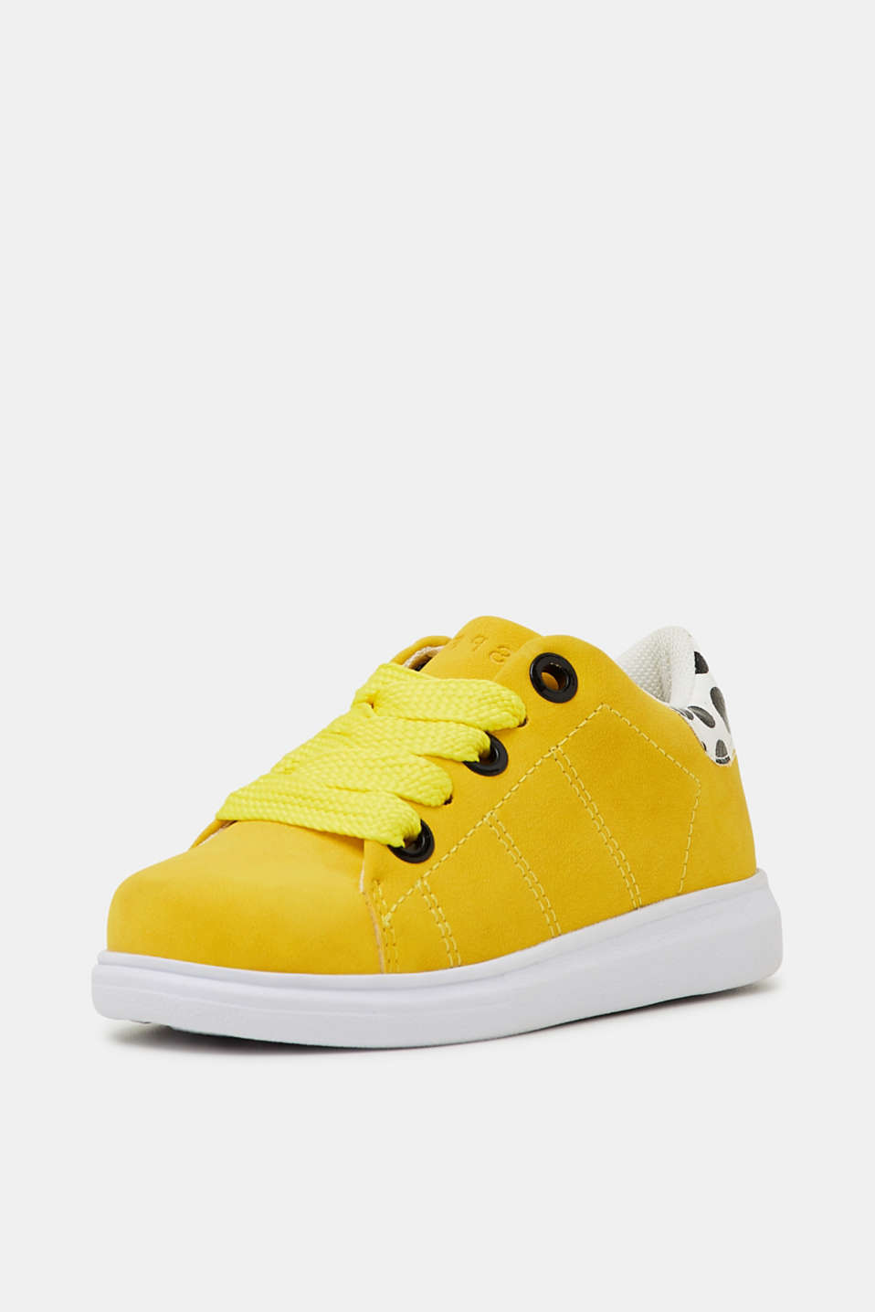 Trendy, faux suede trainers, BRIGHT YELLOW, detail image number 1