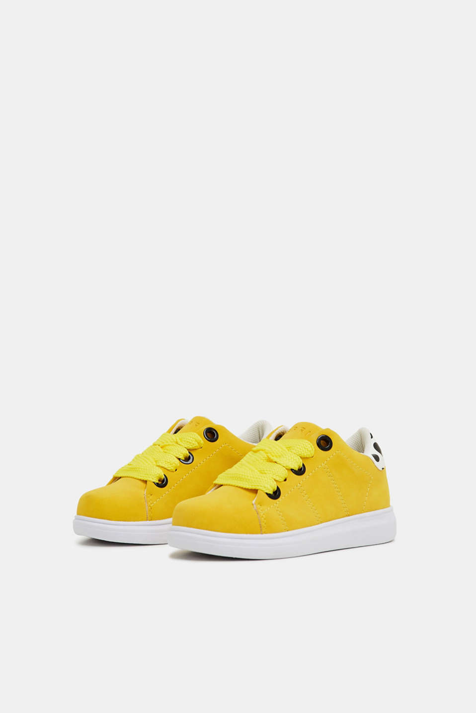 Trendy, faux suede trainers, BRIGHT YELLOW, detail image number 4