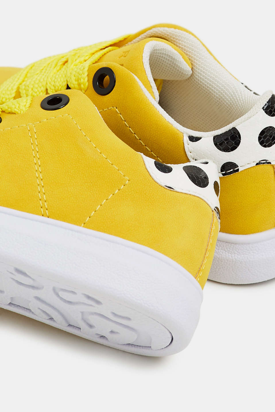 Trendy, faux suede trainers, BRIGHT YELLOW, detail image number 2