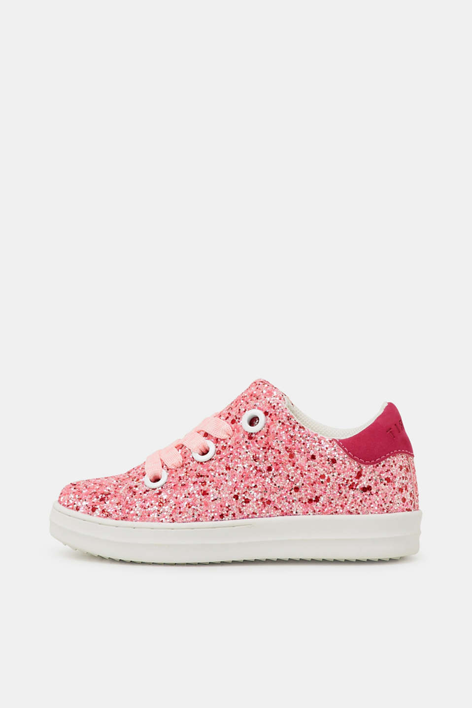 Trainers with glitter, PINK FUCHSIA, detail image number 0