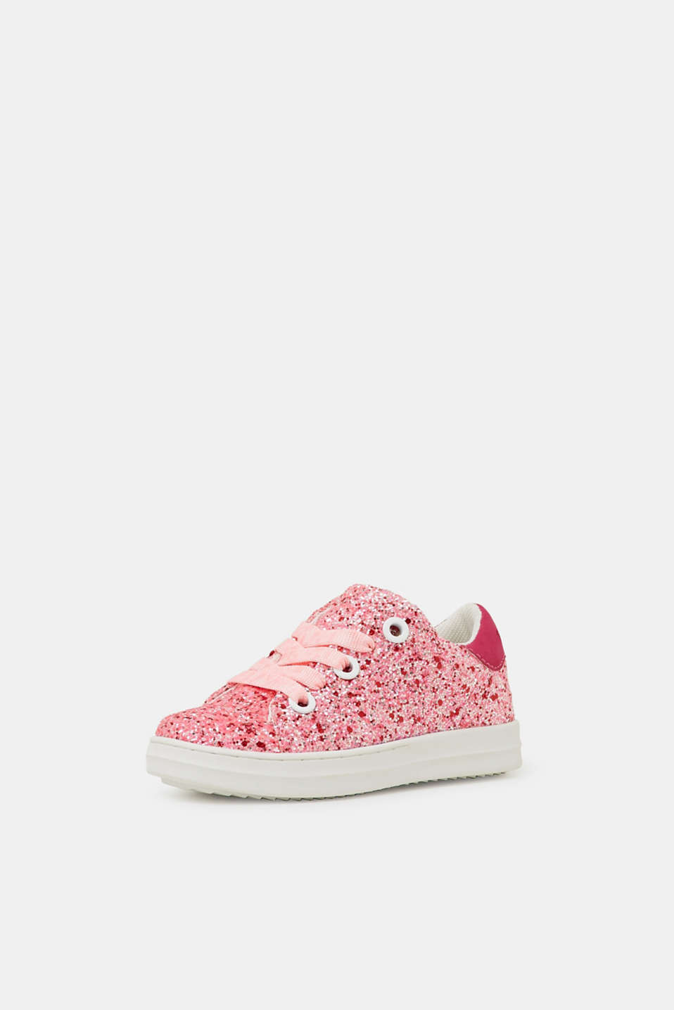 Trainers with glitter, PINK FUCHSIA, detail image number 1