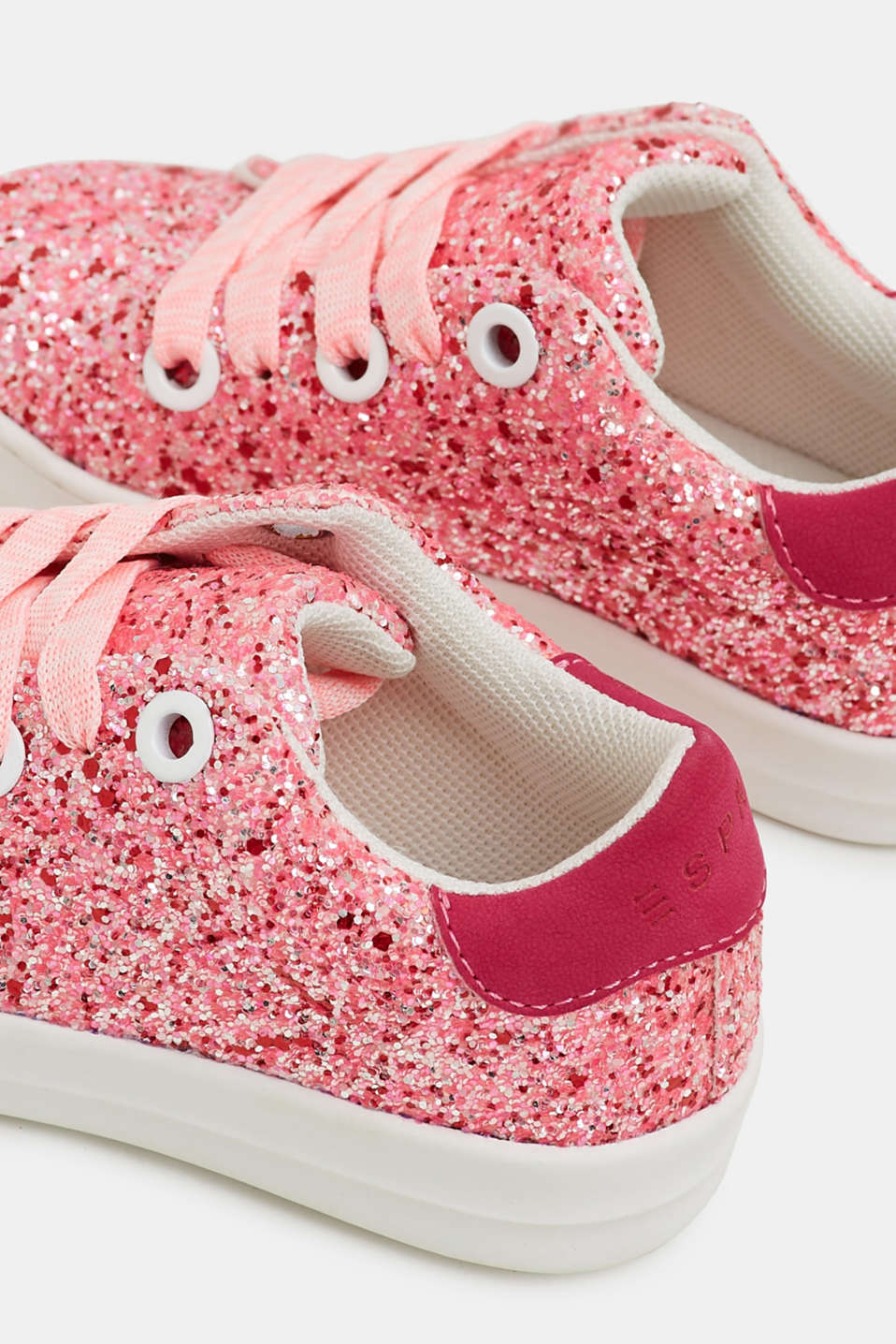 Trainers with glitter, PINK FUCHSIA, detail image number 3
