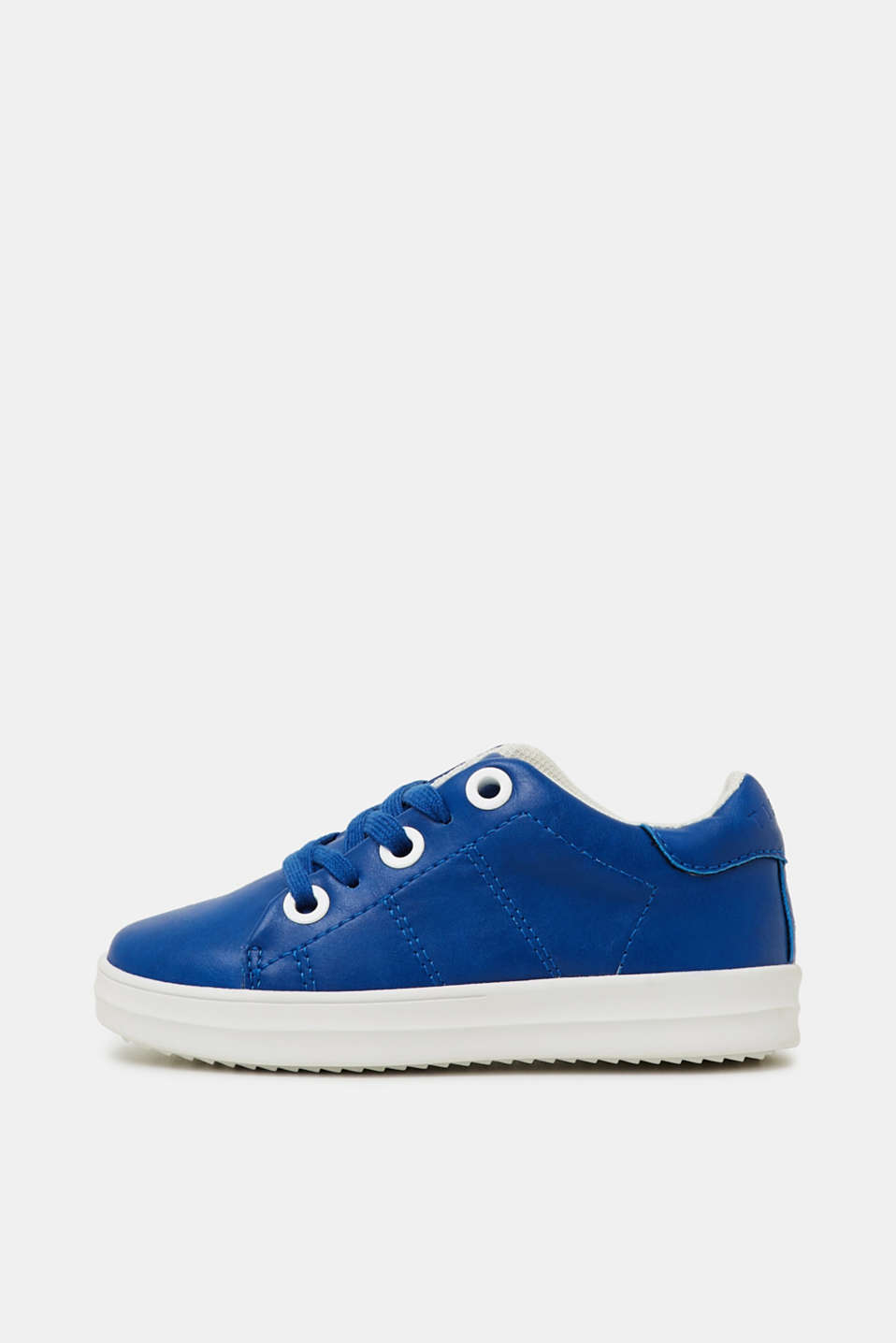 Faux leather trainers, BRIGHT BLUE, detail image number 0