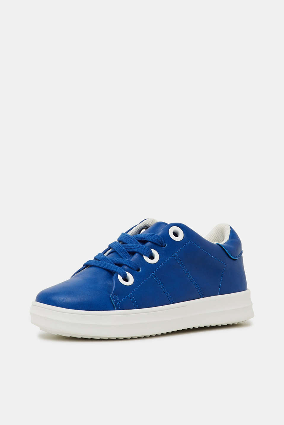 Faux leather trainers, BRIGHT BLUE, detail image number 1