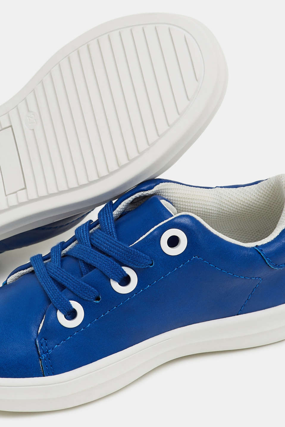 Faux leather trainers, BRIGHT BLUE, detail image number 2