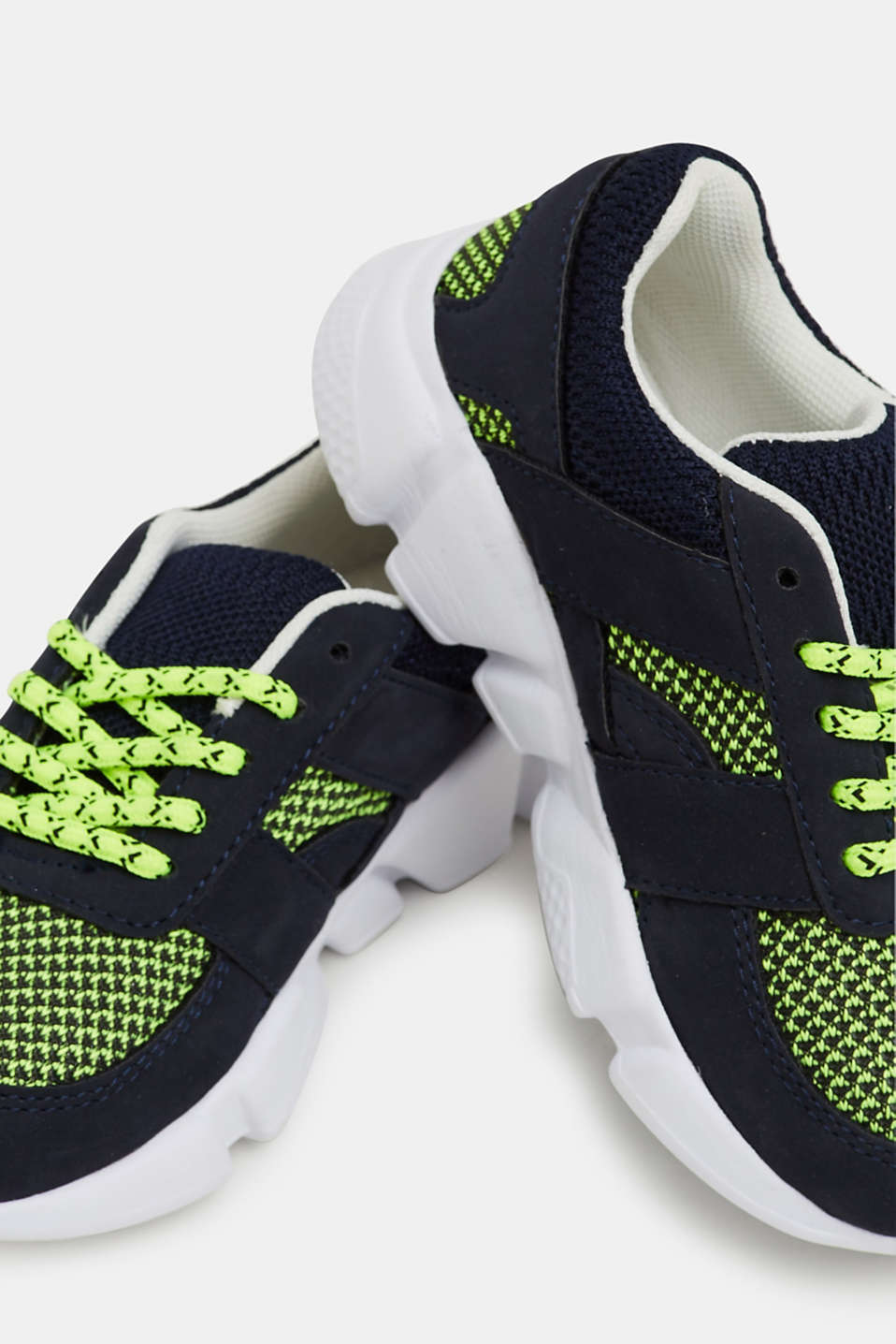 Trainers in a material mix, NAVY, detail image number 2