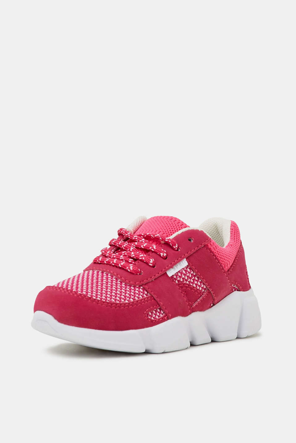 Trainers in a material mix, PINK FUCHSIA, detail image number 1