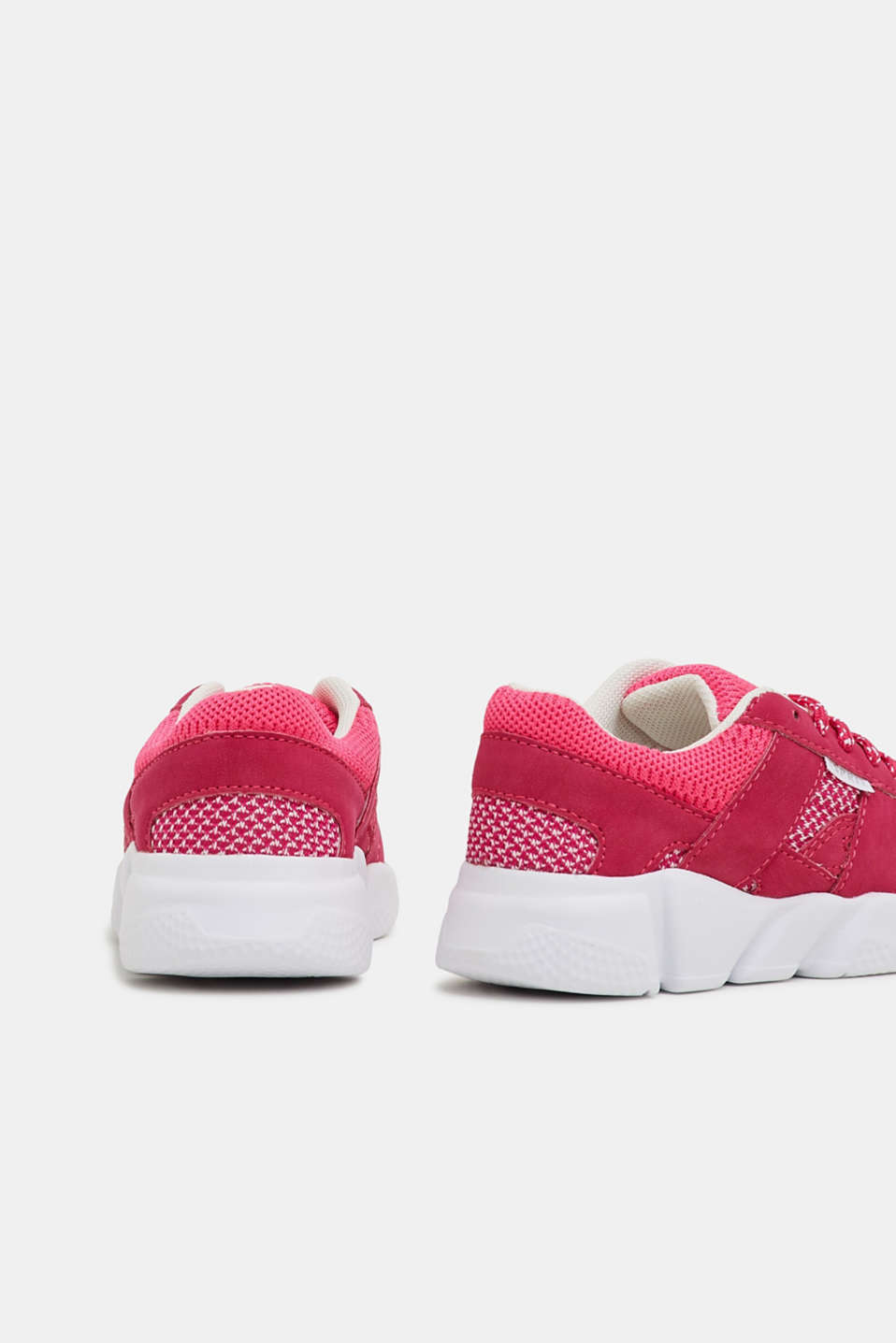 Trainers in a material mix, PINK FUCHSIA, detail image number 3