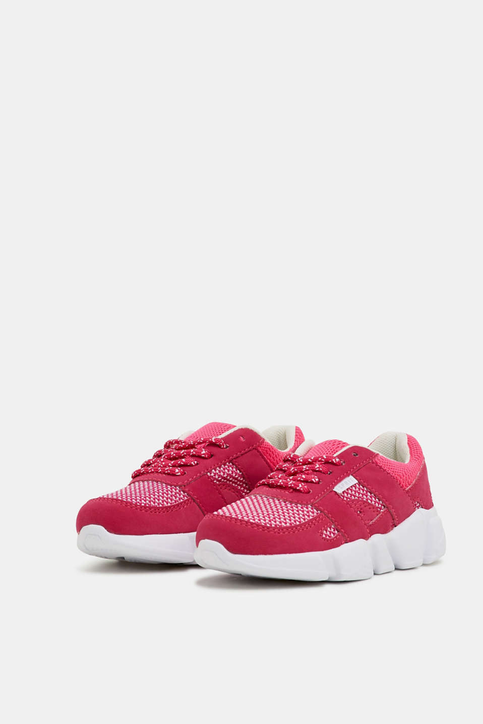 Trainers in a material mix, PINK FUCHSIA, detail image number 4
