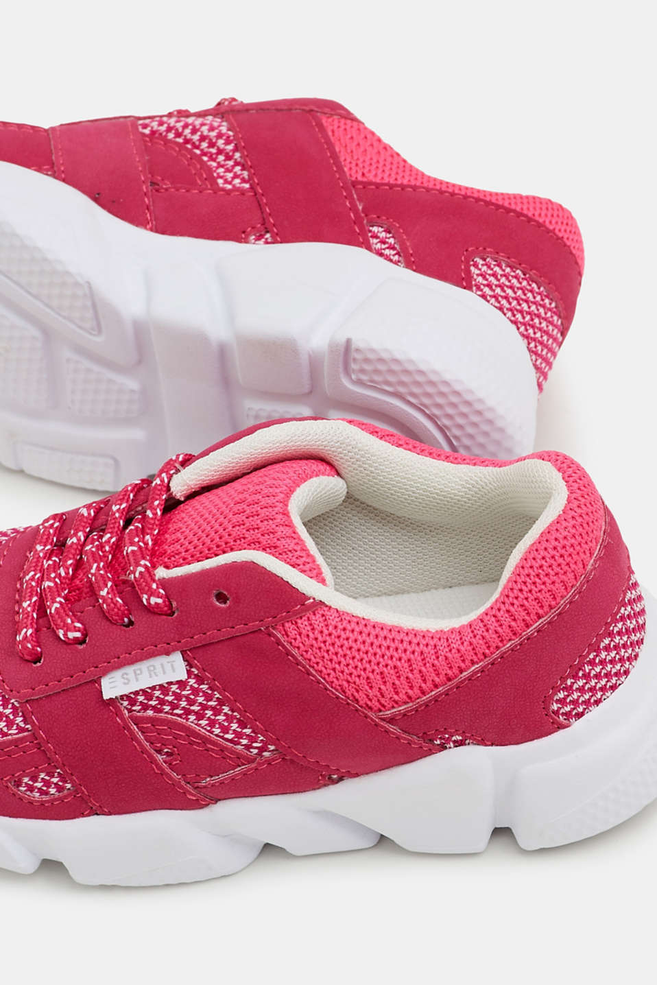 Trainers in a material mix, PINK FUCHSIA, detail image number 2