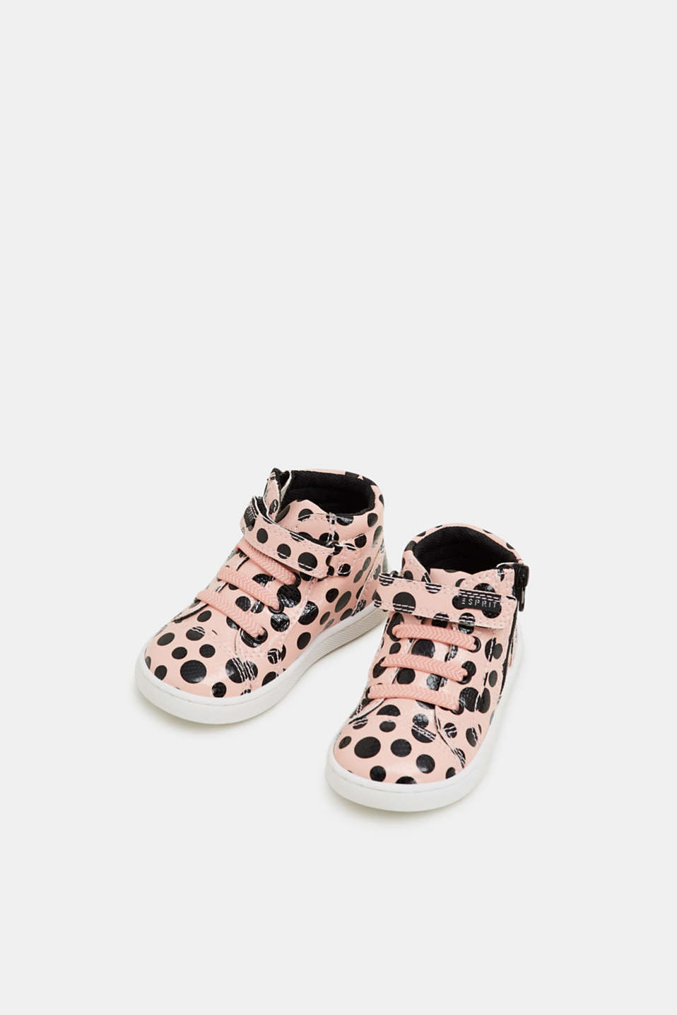 High-top trainers in a patent look, LIGHT PINK, detail image number 1