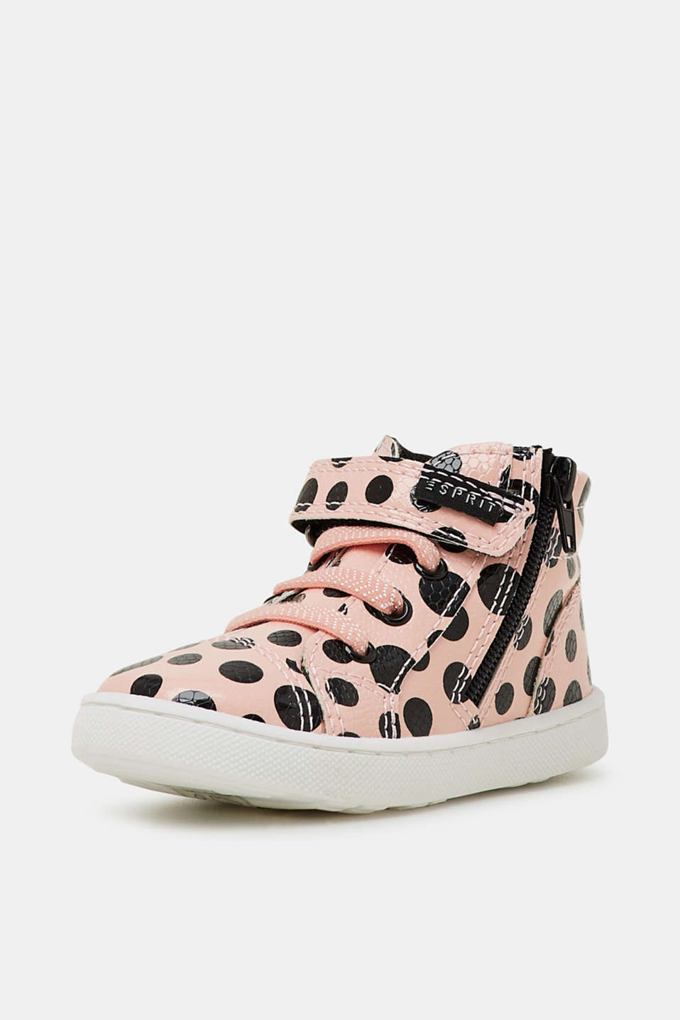 High-top trainers in a patent look, LIGHT PINK, detail image number 2