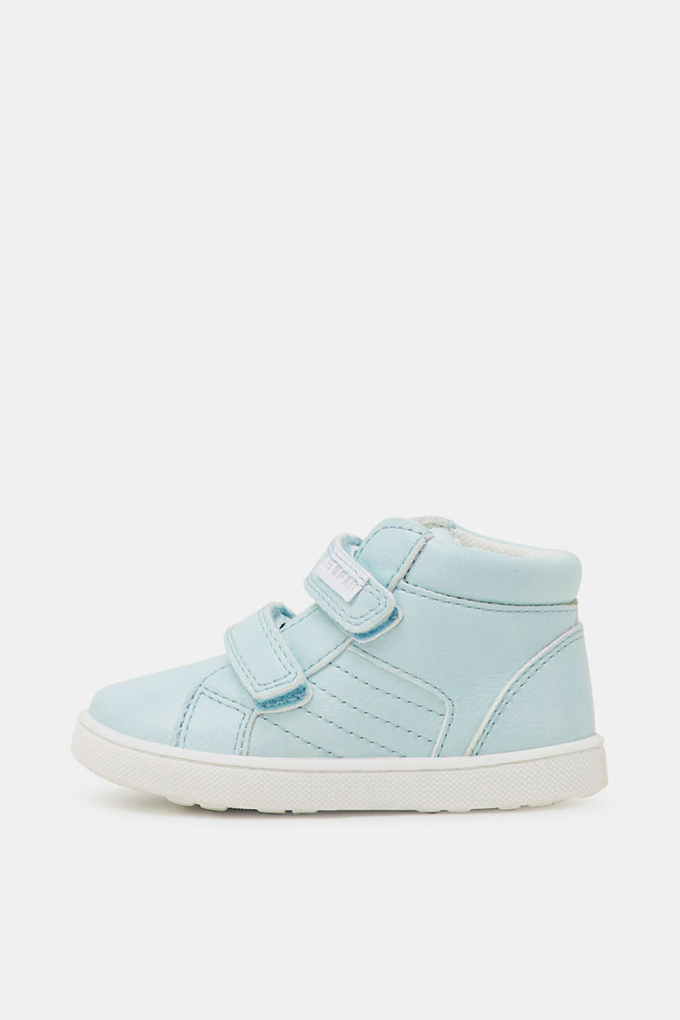 Faux leather high-top trainers, PASTEL BLUE, detail image number 0