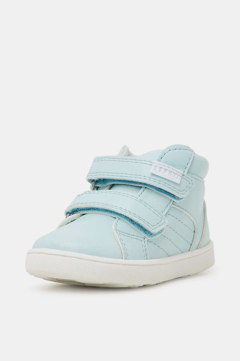 Faux leather high-top trainers, PASTEL BLUE, detail image number 1
