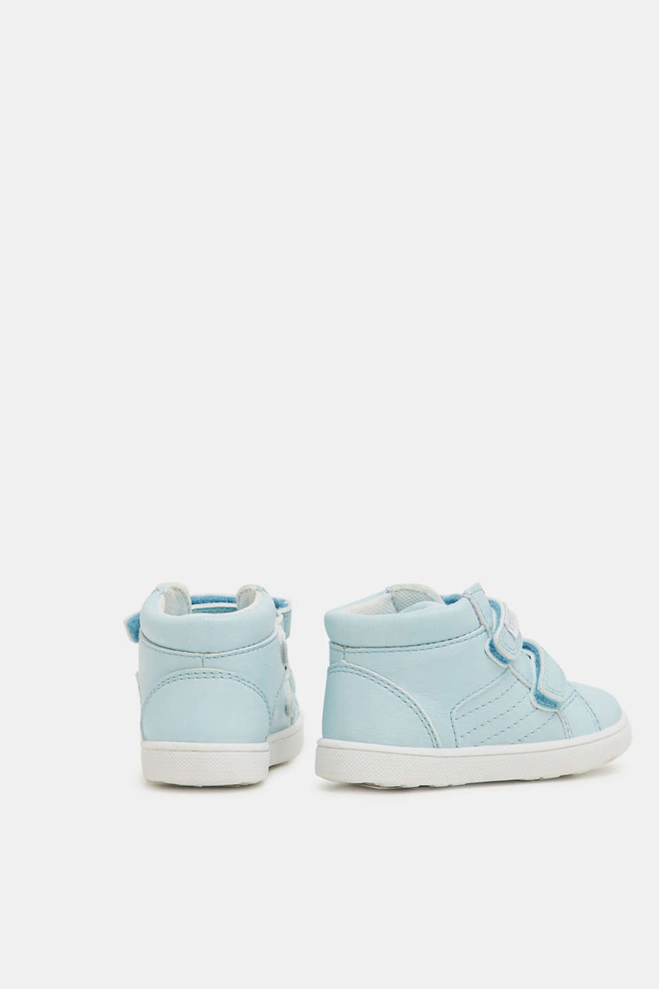 Faux leather high-top trainers, PASTEL BLUE, detail image number 3