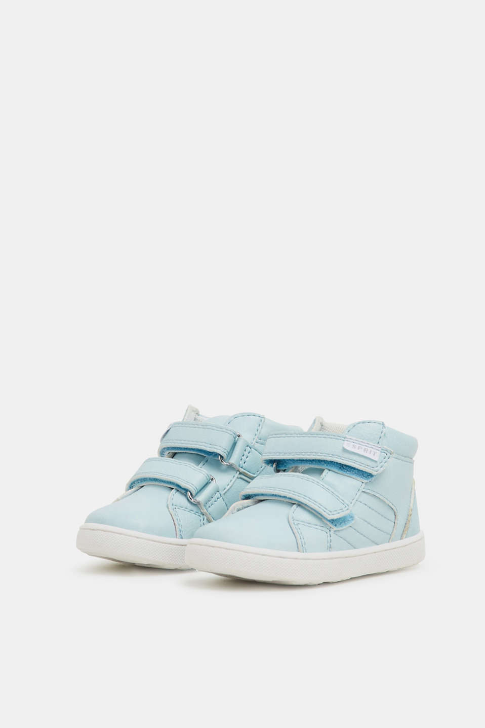 Faux leather high-top trainers, PASTEL BLUE, detail image number 4