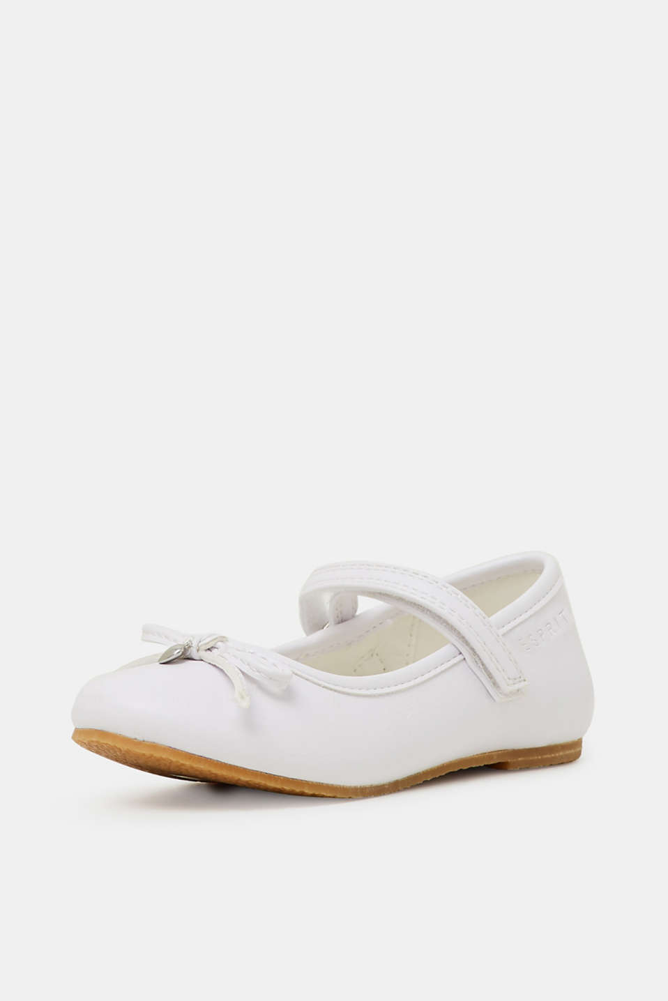 Faux leather ballerinas, WHITE, detail image number 2