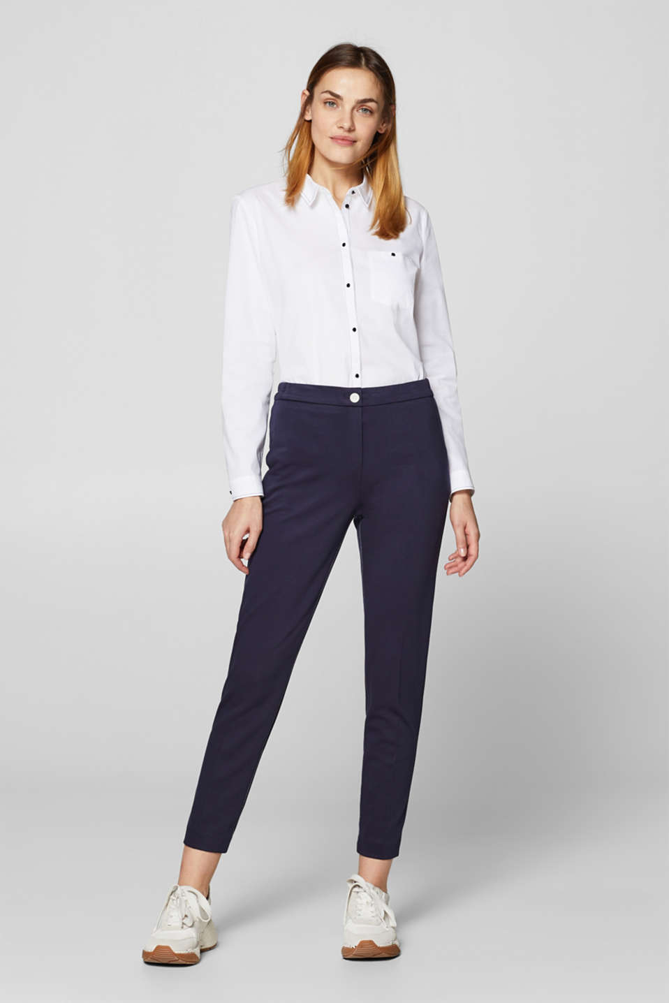 Esprit - STITCHING Mix + Match Pantaloni jersey stretch