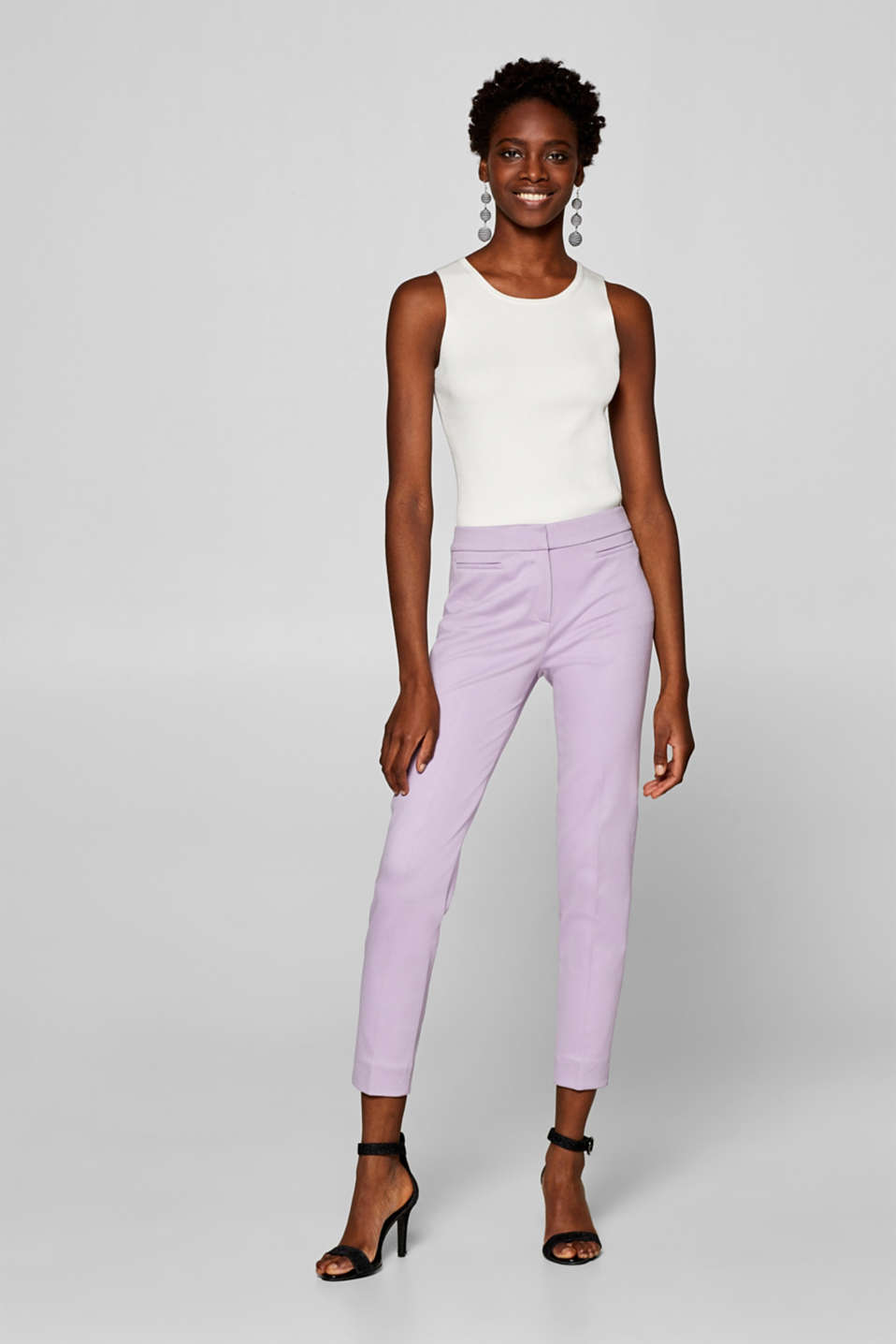 Esprit - LILAC mix + match stretchbroek