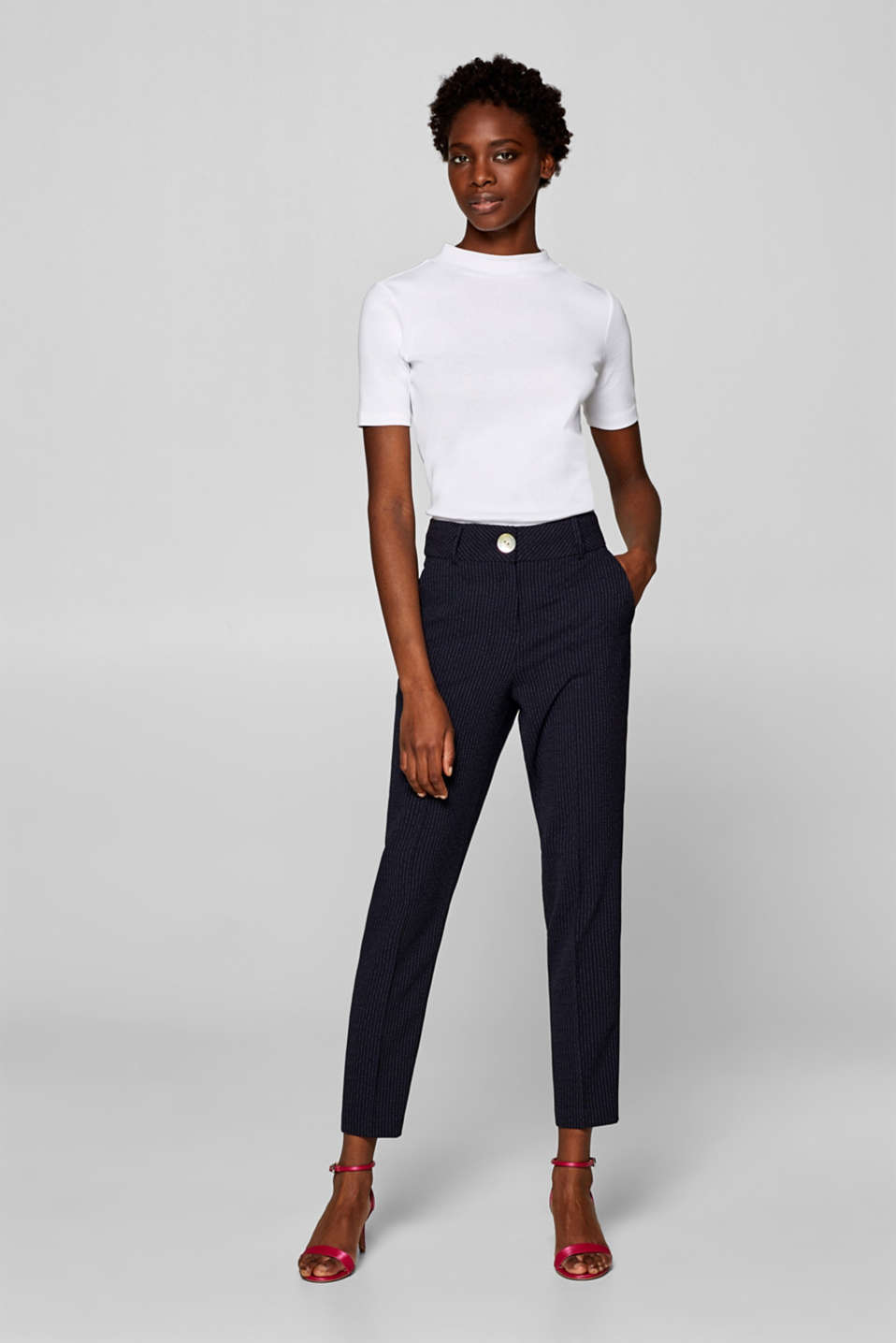 Esprit - Pantalon stretch CRÊPE Mix + Match