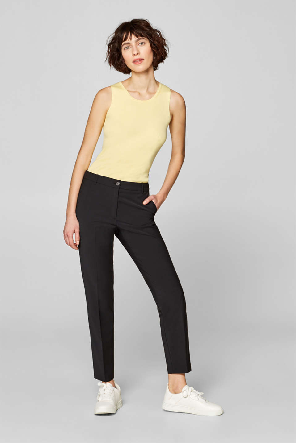 Esprit - ACTIVE SUIT mix + match stretch trousers