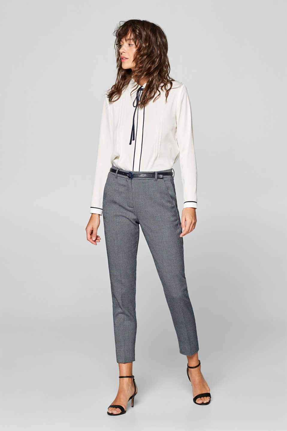 Esprit - Pantalon stretch Mix + Match à MINI-JACQUARD