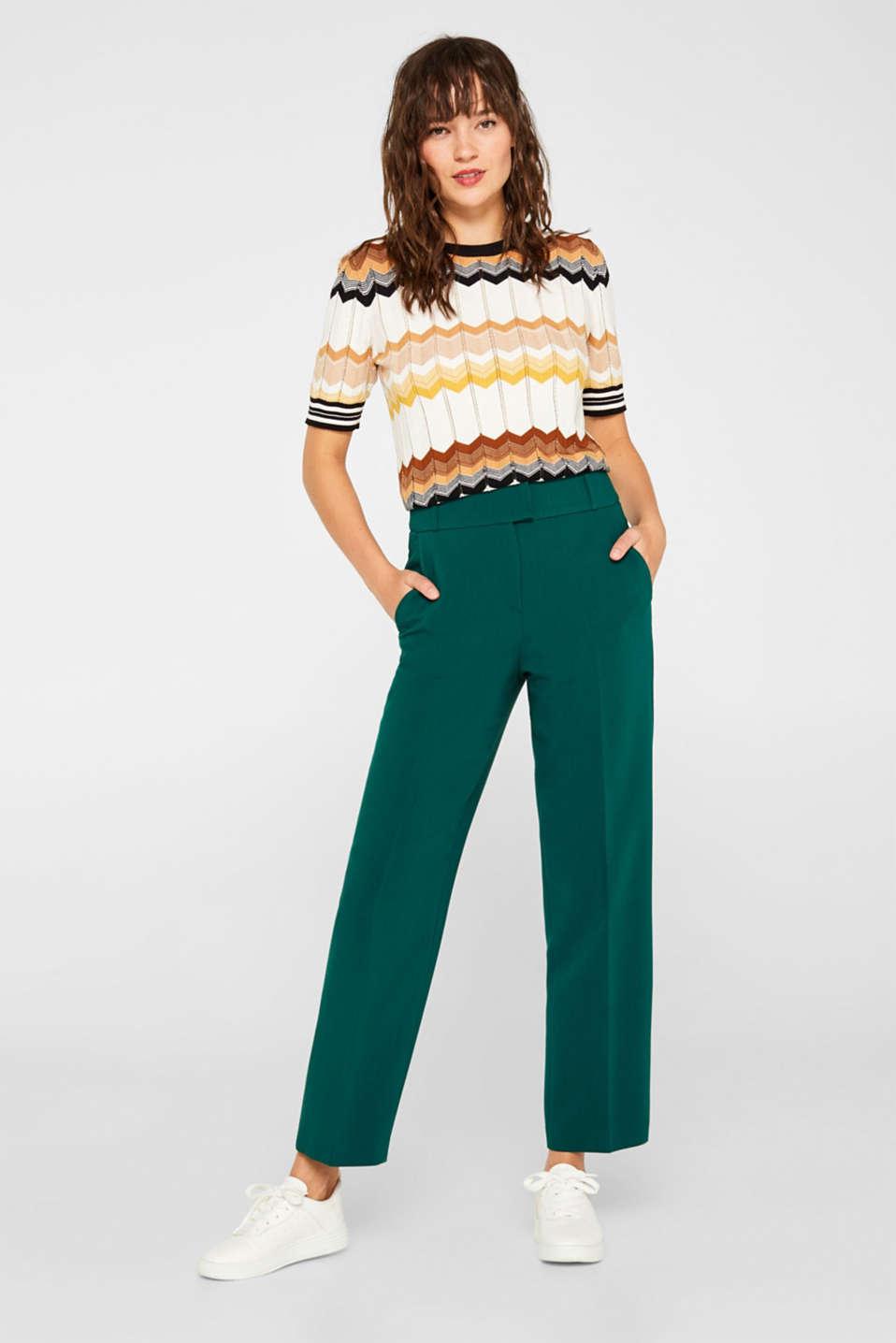 Pants woven, DARK TEAL GREEN, detail image number 0