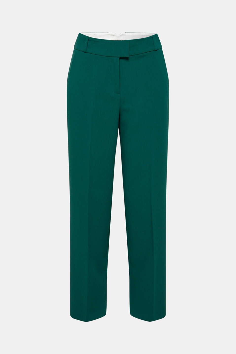 Pants woven, DARK TEAL GREEN, detail image number 7