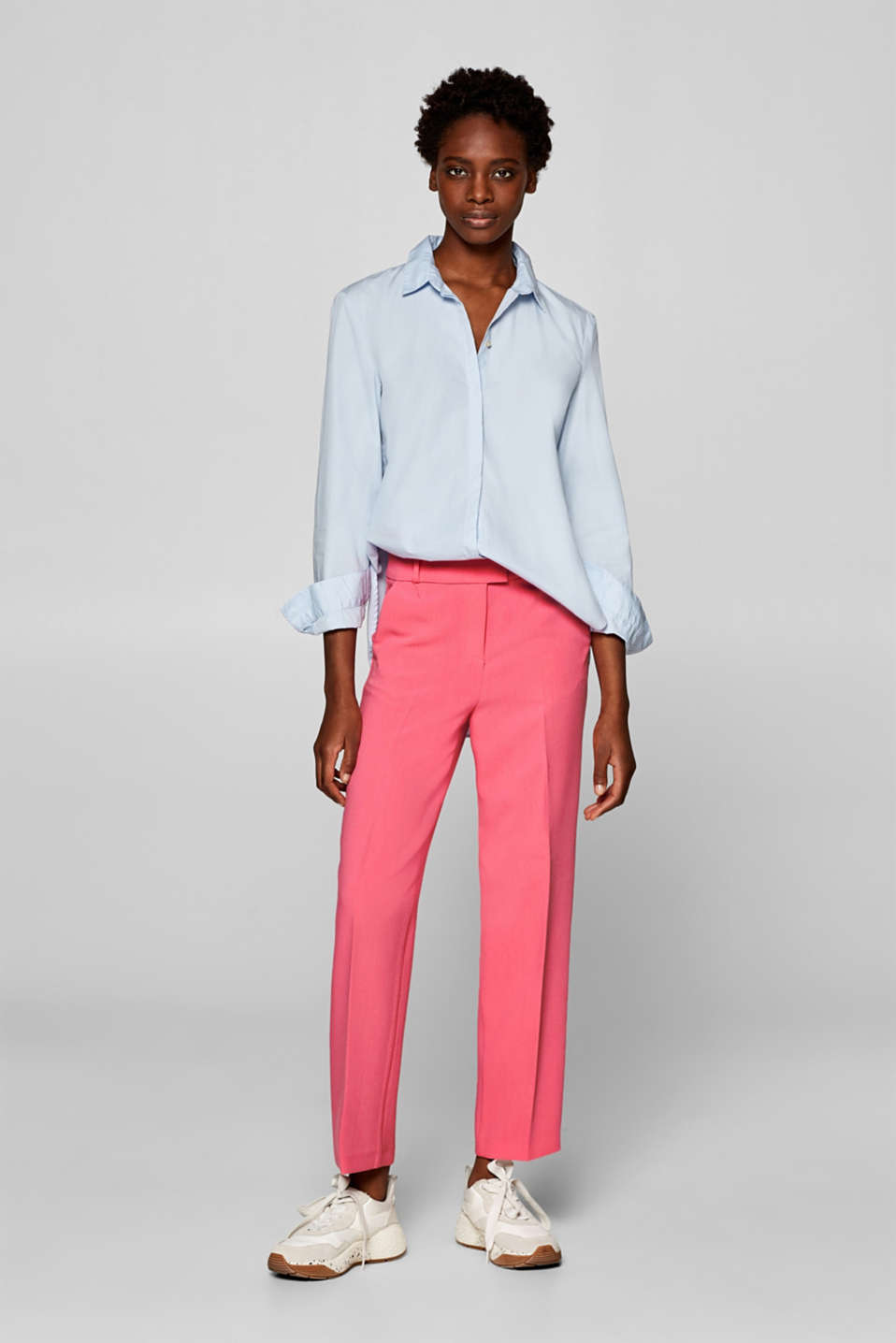 Esprit - PINK Mix + Match Pantaloni stretch