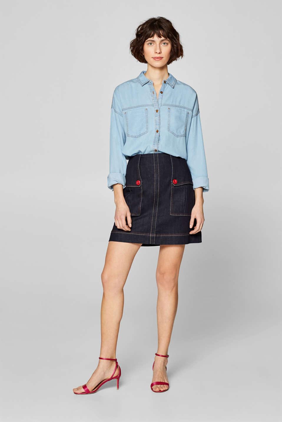 Skirts denim, BLUE DARK WASH, detail image number 1