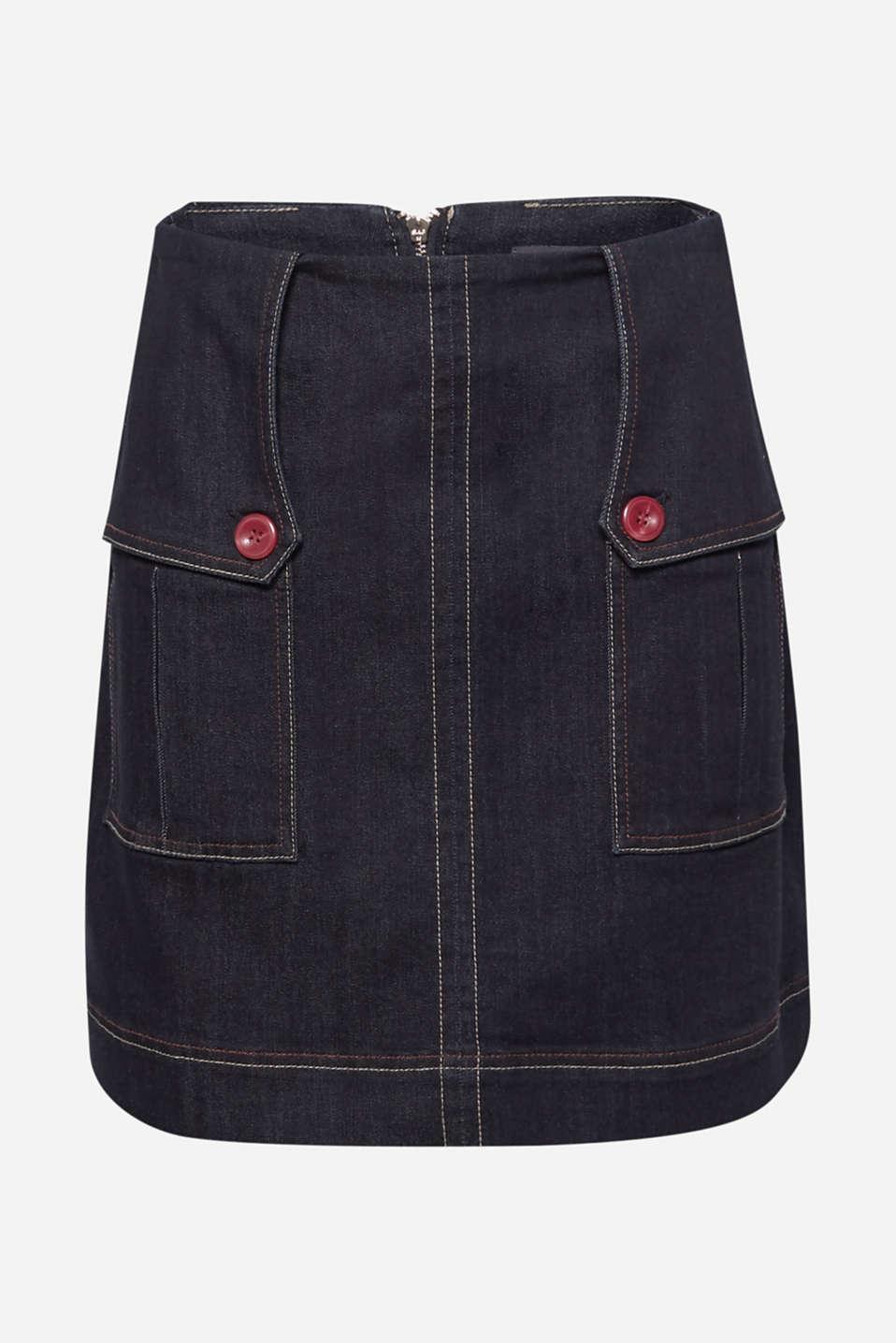 Skirts denim, BLUE DARK WASH, detail image number 7