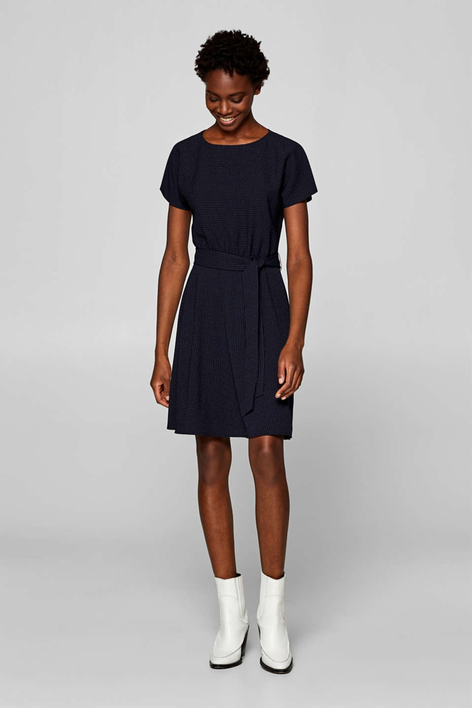 Esprit - Robe stretch à rayures tennis