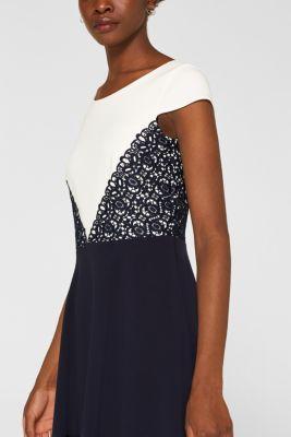 dcb99c46926c Esprit - Jersey-Stretch-Kleid mit Spitzen-Details im Online Shop kaufen