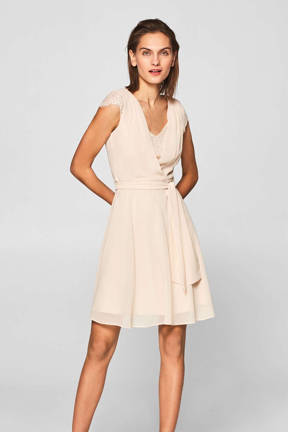 Esprit Denim jurk met strikceintuur, 100% katoen kopen in