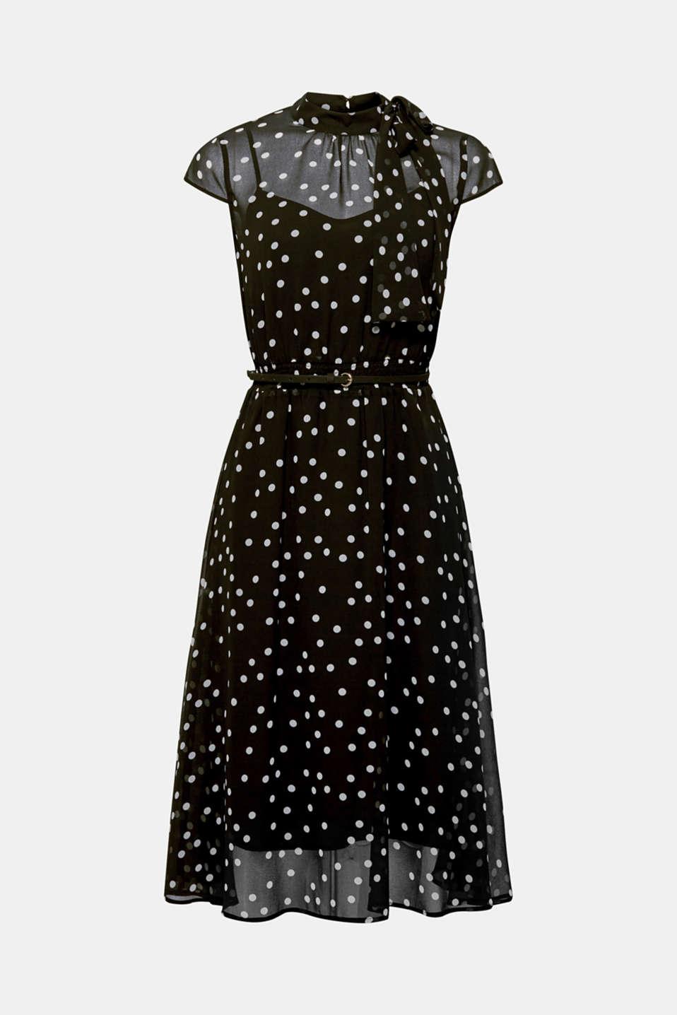 Dresses light woven, BLACK, detail image number 8