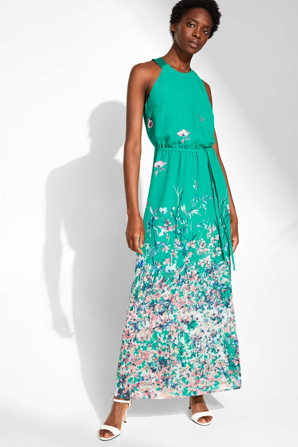 Esprit - Maxi dress with satin details