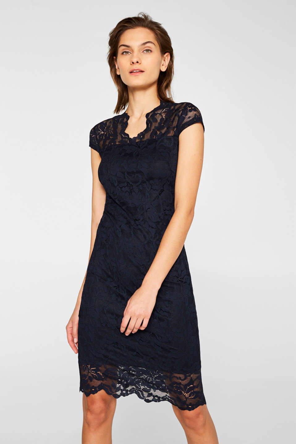 Esprit - Sheath dress in lace with stretch for comfort